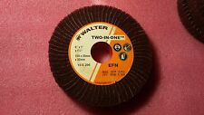 """Walter Two-in-One Abrasive Flap Wheel, 1-1/4"""" X 6"""", 1"""" Face, 220 Grit (Qty 12)"""