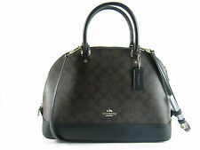 NWT Coach Large Signature SIERRA Dome Satchel Crossbody Brown/Black F37233 $395