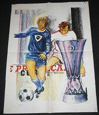 FOOTBALL VOETBAL AFFICHE ORIGINALE SECBASTIA V PSV EINDHOVEN UEFA CUP FINAL 1978