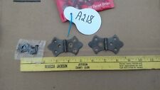 Vintage - antique Solid Brass Hinges 1 pair with 12 Brass screws a218