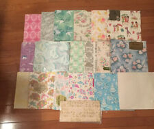 Vintage Wrapping Paper Lot Of 19 Mid Century Bridal Wedding Shower Some Unopened