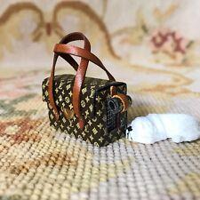 Pat Tyler Designer Dog Cat Pet Carrier Bag Luggage Suitcase Satchel W/Dog p565