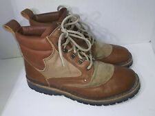 J.L. Powell Crispi Hunting Hiking Work Boots Stanley Brown Vibram mens Size 10