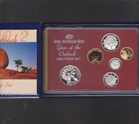 2002 Australia Proof Coin Set in Folder with outer Box & Certificate