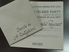INVITACIÓN DESFILE KENZO - PARIS 2007 - ORIGAMI ISLAND PARTY