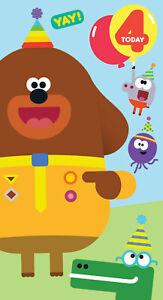 Cbeebies Hey Duggee 4th Birthday Card  - Age 4 Childrens Birthday - FREE P&P