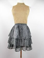 H&M Women's Abstract Print Ruffle Flare Sexy Skirt Summer Casual Party sz L BI13