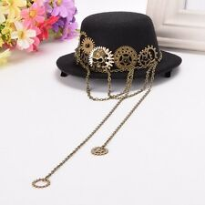 Mini Top Hat Lolita Gothic Punk Head Wear Women Steampunk Skull Gear Hair Clip