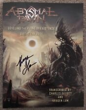 """Abysmal Dawn """"Leveling The Plane Of Existence: Guitar Tab Book"""" Autographed New!"""