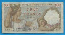 Gertbrolen 100 Francs ( SULLY )  du 24-8-1939      L.453