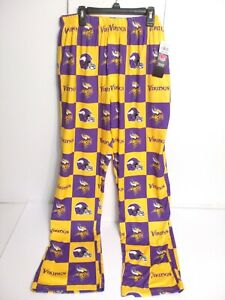 NfL Team Apparel Mens Lounge Sleep Pants Size Medium Minnesota Vikings NEW