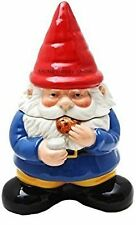 Gnome Sweet Gnome Cookie Jar Handpainted Kitchen Ceramic Collectible Decoration