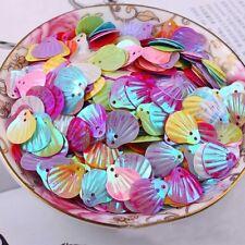 DIY 20mm Shiny Multi-Color Decor Seashells Loose Sequins Paillettes Sewing Craft