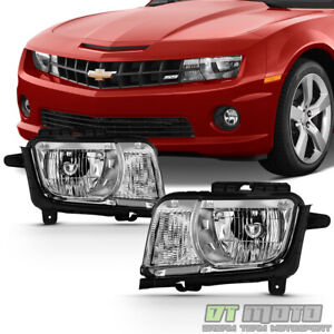 2010 2011 2012 2013 Chevy Camaro Headlights Lamps Halogen Left+Right 10 11 12 13