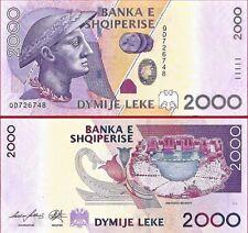 Albania 2000 leke Paper Money, Banknote of 2012. PICK 74. UNC