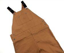 Mens NWT Bib Overalls Craftsman 40 X 32 Brown Duck Cotton Teflon Stain Protector
