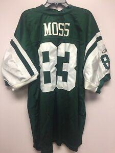 NWT New NFL Equipment Reebok New York Jets 83 Moss Football Jersey 54 XXL
