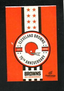 Cleveland Browns--2021 Pocket Schedule--Bud Light