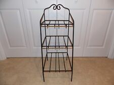 * Longaberger * Wrought Iron Foundry Collection (3-Tier Bin Basket Organizer)