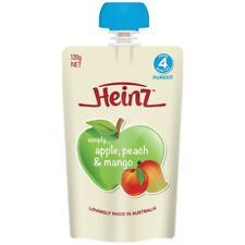 Heinz Apple Peach & Mango Pouch 120g 4m