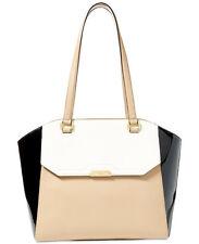 NWT Lauren Ralph Lauren Mitford Abriana Tote Purse Handbag $348 Camel/Vanilla/B
