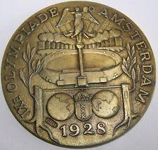 OLYMPISCHE SPIELE AMSTERDAM 1928 - MEDAILLE - 70 MM / 100 GRAMM