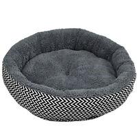 Cojin cama caliente canape Cachorro de perro cachorro gato en invierno-Gris C9L4