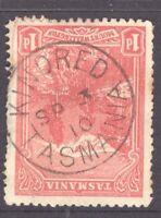 Tasmania nice 1910 KINDRED postmark (type 1) on 1d pictorial rated U/C (3)