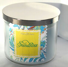 Sundress Bath And Body Works Candle 3 Wick Glass Jar Floral Bergamot Scented USA