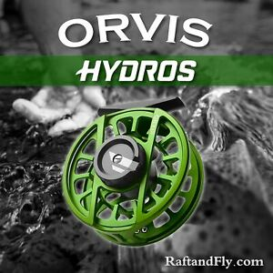 Orvis Hydros III Fly Reel 5-7wt Matte Green - Limited Edition 2021 Free Shipping