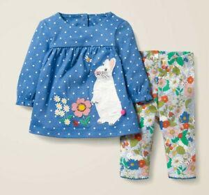 Ex Mini Baby Boden Dress/Leggings/Playset Rabbit Florabunda New Girls Floral
