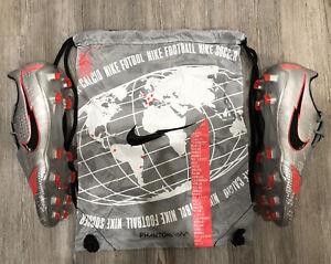 Nike Phantom Venom Elite FG Soccer Cleats Bomber Grey Red AO7540-906 Men Sz 9.5