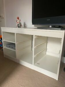 Ikea Trofast storage unit (white with 2 shelves and 1 tray)