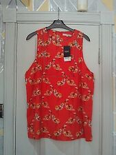 NEXT - Gorgeous  orange nautical floral  detailed blouse size 18  bnwts