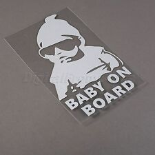 White Car Sticker Baby On Board  For Cars Auto Van Truck Window Vehicle Sticker