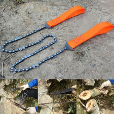AM_ New Portable Outdoor Survival Camping Hand Chainsaw Pocket Chain Saws Set Ha