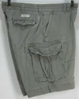 POLO BY RALPH LAUREN MEN'S (W38) CLASSIC CHINO GREEN CARGO SHORTS ALL COTTON GUC
