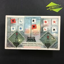 """1886 """"AYER'S CHERRY PECTORAL' COUGH SYRUP ADVERTISING BLOTTER CARD USA LOWELL"""
