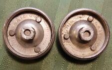 Lot 2 Vintage Metal Steel Chicago Skate Co Company Roller Skate Wheels