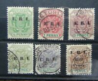 Transvaal 1901 - 02 set to 2/6 SG238 - 243 1901 1/2d on 2d Used