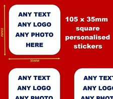 Personalised Business Name Stickers Thank You Seals Your Logo Labels Address SQ