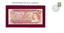 CANADA - ENVELOPPE TIMBRÉE ET BILLET 2 DOLLARS 1974 -  NEUF