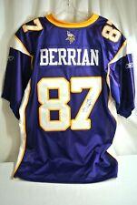 Minnesota Vikings #87 Bernard Berrian Signed Reebok Jersey Size 50