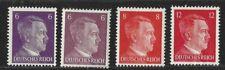 4 Germany Deutsche Reich-Hitler Head Stamps-MNH