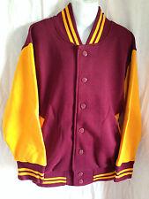 BNWT Boys/Girls Sz 10 L W Reid Maroon/Gold Varsity Letterman Baseball Jacket