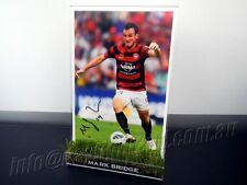 ✺Signed✺ MARK BRIDGE Photo & Frame PROOF Western Sydney Wanderers 2017 Jersey