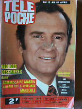 TELE POCHE N°478 (9 avvril 1975) G. Descrières -Roman photos Georges Descrières