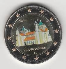 €ALLEMAGNE 2014A - 2 EURO couleur, BASSE-SAXE / Eglise Saint-Andréas, Hidelsheim