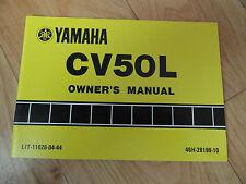 1983 1984 Yamaha CV50 Owner's Manual CV 50 L