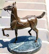 Dimaro Bronze Horse Sculpture First Lead 1/20 Beautiful Detail, On Marble Stand!